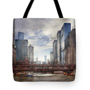City - Chicago Il - Looking Toward The Future Tote Bag