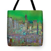 City Garden Art Landscape Tote Bag