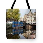 City Of Amsterdam Cityscape Tote Bag