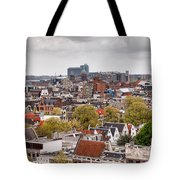City Of Amsterdam From Above Tote Bag