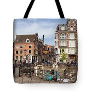 City Of Amsterdam In Netherlands Tote Bag