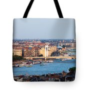 City Of Budapest At Sunset Tote Bag