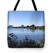 City Of Melbourne On The Intracoastal Waterway In Central Florid Tote Bag