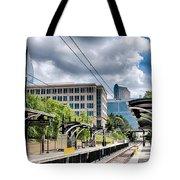 City Streets Of Charlotte North Carolina Tote Bag