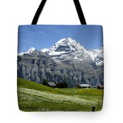 Classic Swiss Alps Tote Bag