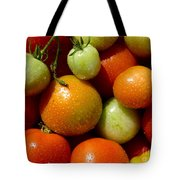 Closeup Of Ripening Fresh Tomatoes Tote Bag
