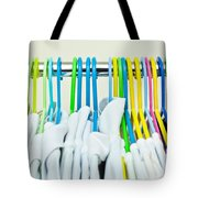 Clothes Hangers Tote Bag by Tom Gowanlock