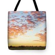 Clouds Over Landscape At Sunset Tote Bag