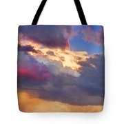Cloudscape Sunset Touch Of Blue Tote Bag