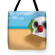 Clown Skull In The Desert Tote Bag