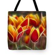 Cluisiana Tulips Fractal Tote Bag