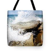 Coastal Collision Tote Bag