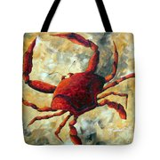 Coastal Crab Decorative Painting Original Art Coastal Luxe Crab By Madart Tote Bag