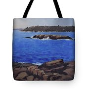 Coastal Waters Of Maine - Art By Bill Tomsa Tote Bag