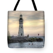 Coastguard Lighthouse Tote Bag