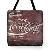 Coca Cola Pink Grunge Sign Tote Bag