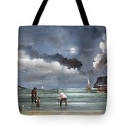 Cockle Picking At Whitby Tote Bag
