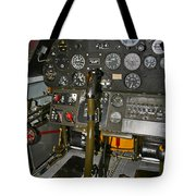 Cockpit Of A P-40e Warhawk Tote Bag