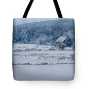 Cold Blue Snow Tote Bag