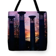 Colonnade In A Park At Sunset, 95 Bell Tote Bag
