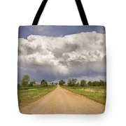 Colorado Country Road Stormin Skies Tote Bag
