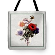 Colorful Anemones Square Tote Bag