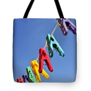Colorful Clothes Pins Tote Bag
