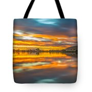 Colorful Clouds At Sunrise Tote Bag