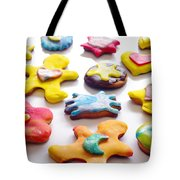 Colorful Cookies Tote Bag by Carlos Caetano
