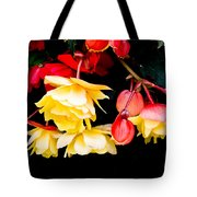 Colorful Flowers Tote Bag by Tom Gowanlock