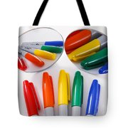Colorful Markers Tote Bag