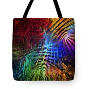 Colorful Psychedelic Abstract Fractal Art Tote Bag