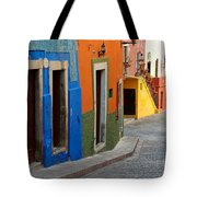 Colorful Street, Mexico Tote Bag