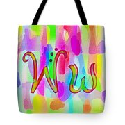 Colorful Texturized Alphabet Ww Tote Bag