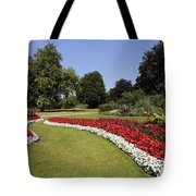 Colourful Flowerbeds In Hyde Park In London England Tote Bag
