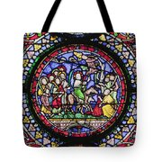 Colourful Stained Glass Window In Tote Bag by Terence Waeland