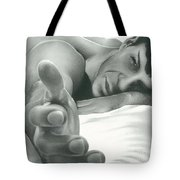 Come Hither Nude Spock Charcoal Pencil Drawing Tote Bag