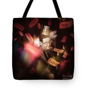 Comedy Entertainment Man On Theater Stage Tote Bag