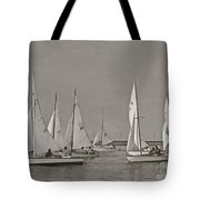 Comet Race In Black And White  Tote Bag