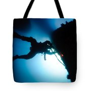 Commercial Diver At Work Tote Bag