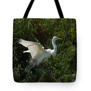 Common Egret Tote Bag