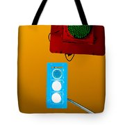 Confusing Wrong-color Traffic Lights And Copyspace Tote Bag