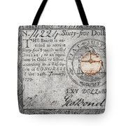 Continental Currency, 1779 Tote Bag