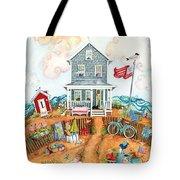 Corgie Street Cottage Tote Bag