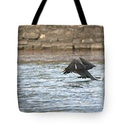 Cormorant Water Takeoff Tote Bag