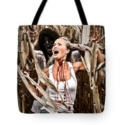 Corn Field Horror Tote Bag