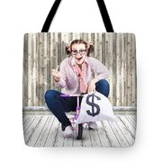 Corrupt Business Thief In A Smart Stealing Scam Tote Bag