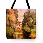 Country House By A River Tote Bag