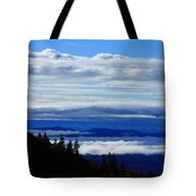 Courthouse Valley Sea Of Clouds Tote Bag