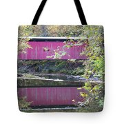 Covered Bridge Along The Wissahickon Creek Tote Bag